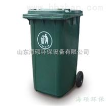 户外180L两轮塑料垃圾桶/全新料环卫垃圾桶