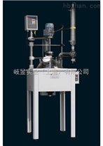 單層玻璃反應釜蒸餾回流可同時進行