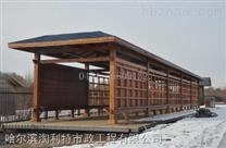 哈尔滨木质亭廊,花架,花箱,园林座椅