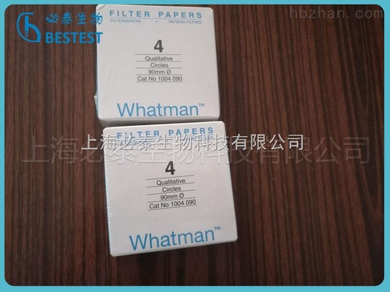 Whatman 沃特曼4号滤纸Grade4定性滤纸 直径90mm