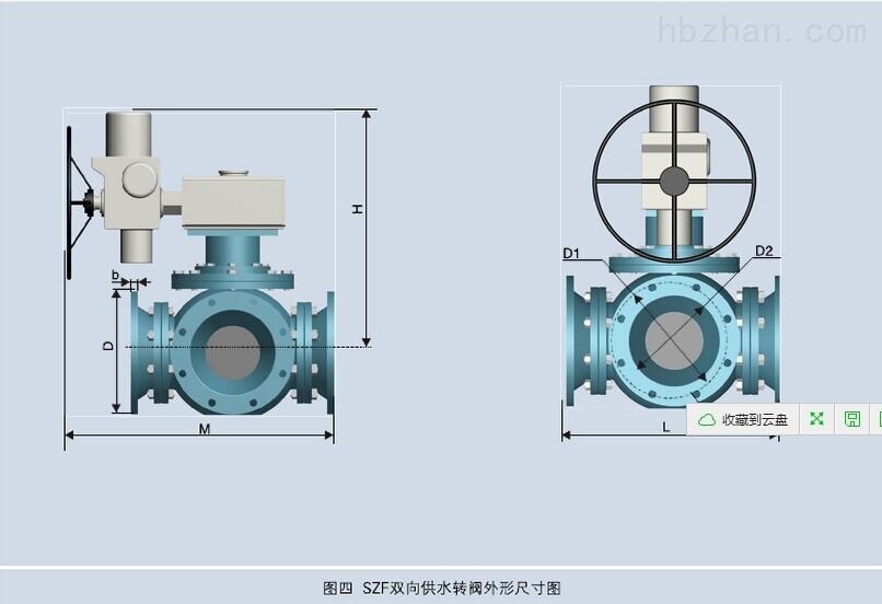 SZF-200双向四通供水转阀陕西恒远水电设备生产基地