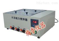 複合式四孔水浴磁力攪拌器