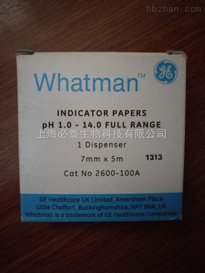 whatman盘式PH试纸条 PH 1-14  2600-100A