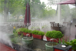 德阳人造雾设备小区降温喷雾加湿工程