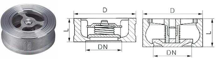 h71w-h71w对夹升降式止回阀图片