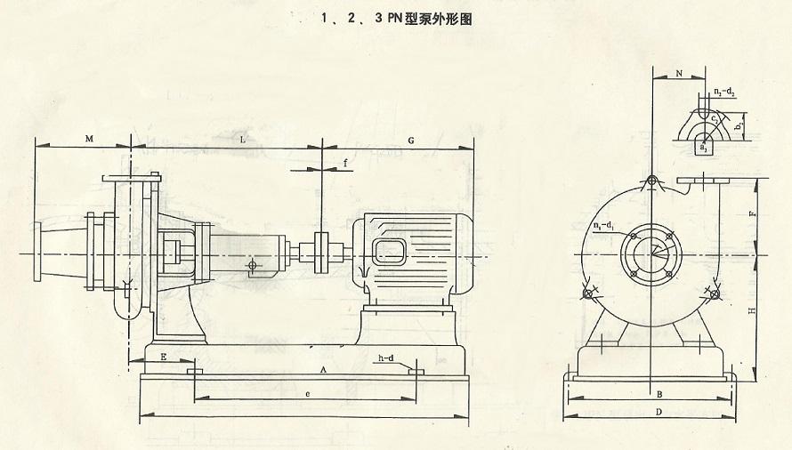 pn卧式泥浆泵,pnl立式泥浆泵结构图及尺寸
