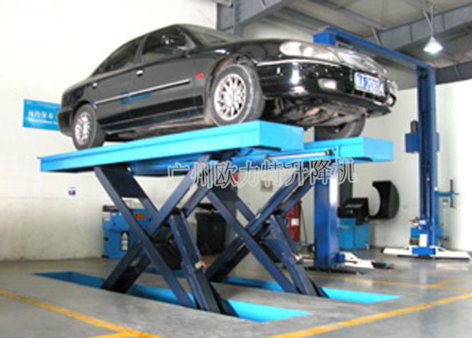 目前市场上固定式升降机多用于立体车库和地下车库层高间 汽车举升等.图片
