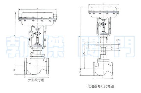 气动直通单座调节阀结构原理图图片