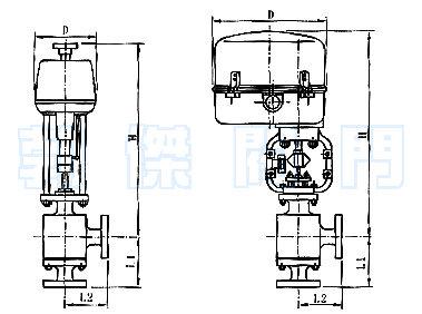 电动角形高压调节阀结构原理图
