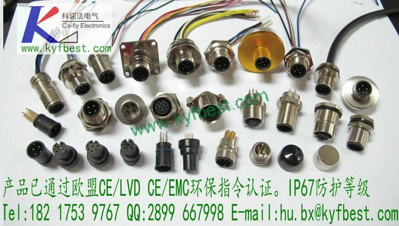 电子元器件 数据传感器 m12插座  m12插座产品描述:m12x1-3 针,4 针,5