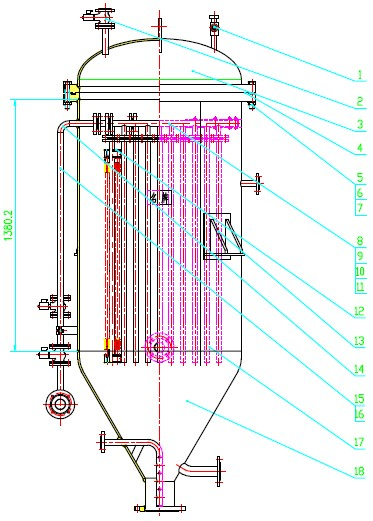 多管式滤饼层过滤器-全自动烛式过滤机