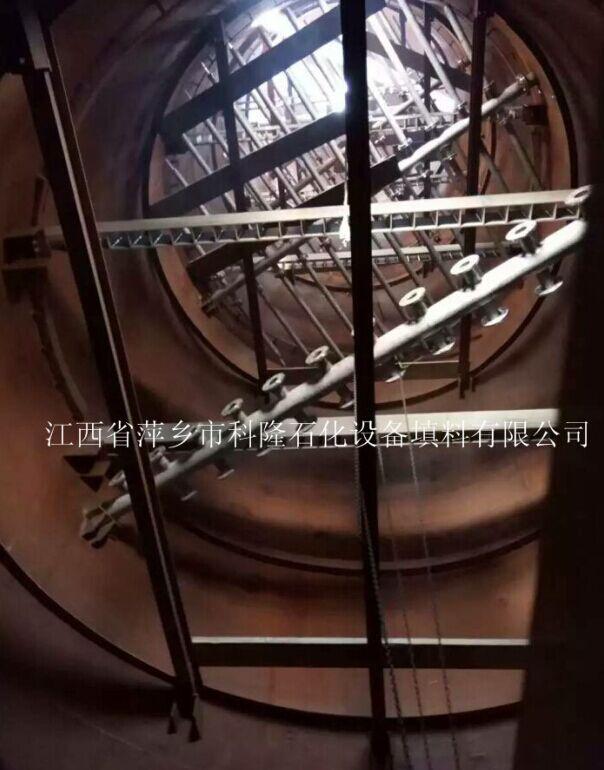 古某化工厂客户安装塔内件