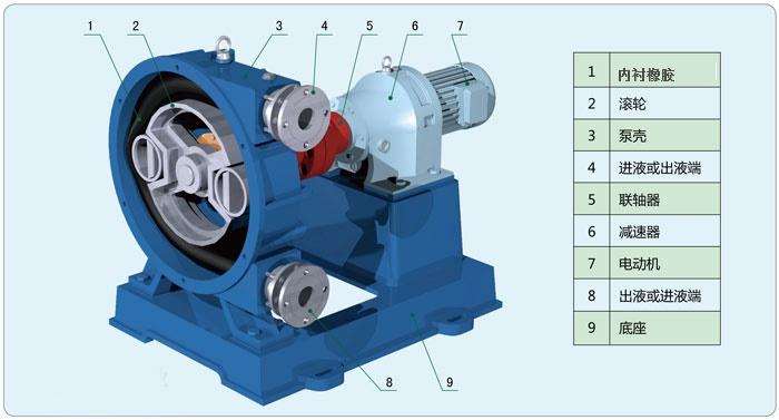 高粘度强自吸污水泵结构图
