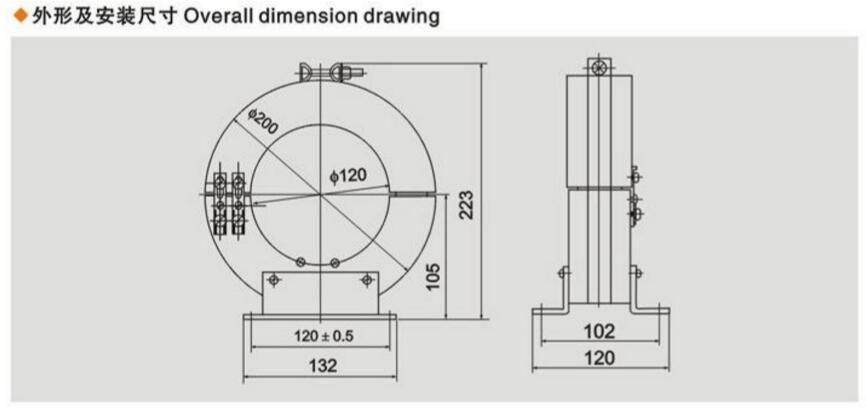 LXK-100零序电流互感器外形尺寸图