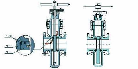 燃气平板闸阀结构图3